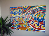TROPICAL CURL Original Enamel Painting SOLD