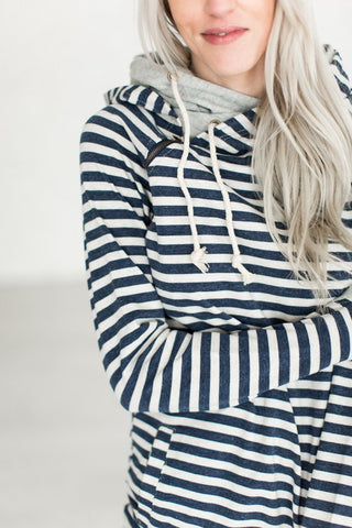 Flora Stripe Tunic - Navy