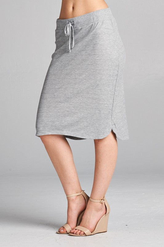 Eazy Breezy Skirt - Grey (short)