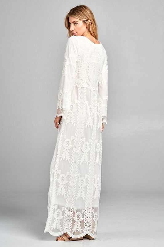 White After Labor Day Maxi