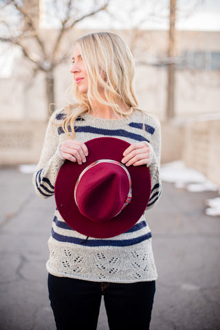 Cloudy Colorblock Sweater