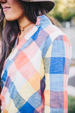 Rainbow Hi-Lo Blouse