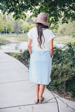 Coastal Linen Dress - Blue