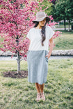 Coastal Linen Dress - Coal