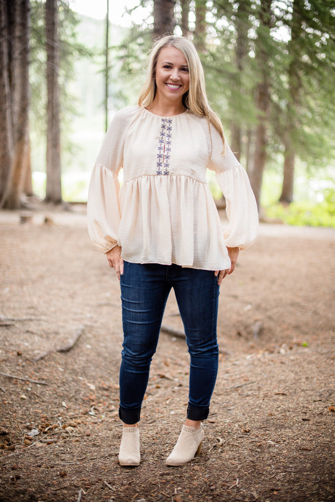 Bell Sleeved Boho Blouse