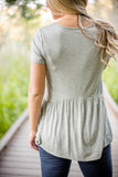 Obsession Peplum - Heather Grey