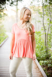 Obsession Peplum - Coral
