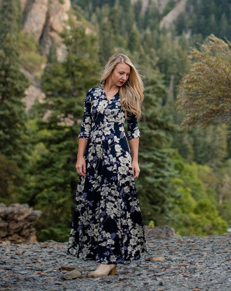 Whimsy Dress - Navy