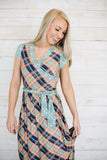 Mixed Print Wrap Maxi