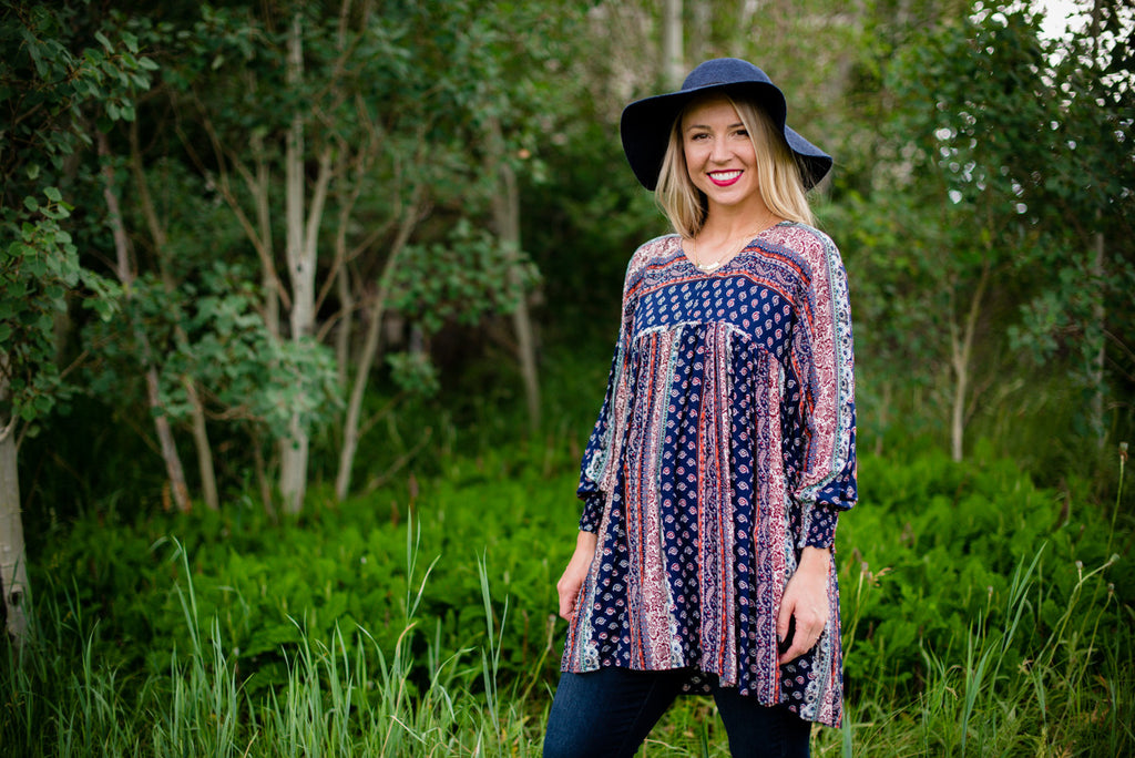Patchwork Boho Blouse