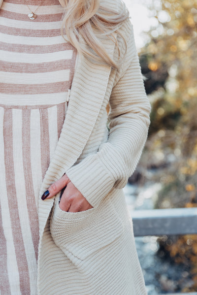 Side-Tie Pocket Dress - Taupe
