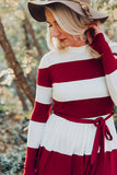 Colorblock Midi - Burgundy