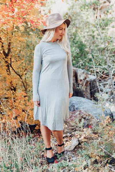 T-shirt Dress - Heather Grey