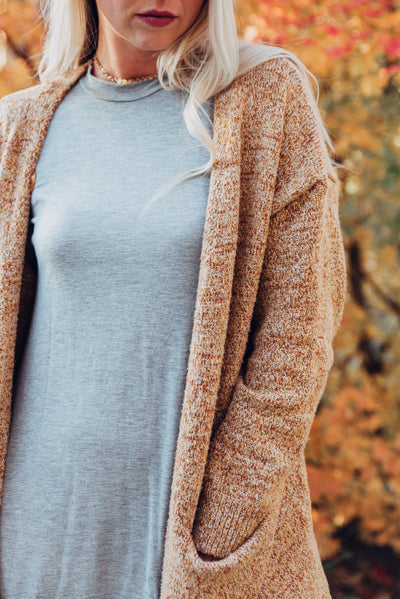 Harvest Cardigan - Rust