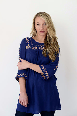 Tulip Top - Navy