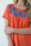 Funshine Blouse - Orange Coral