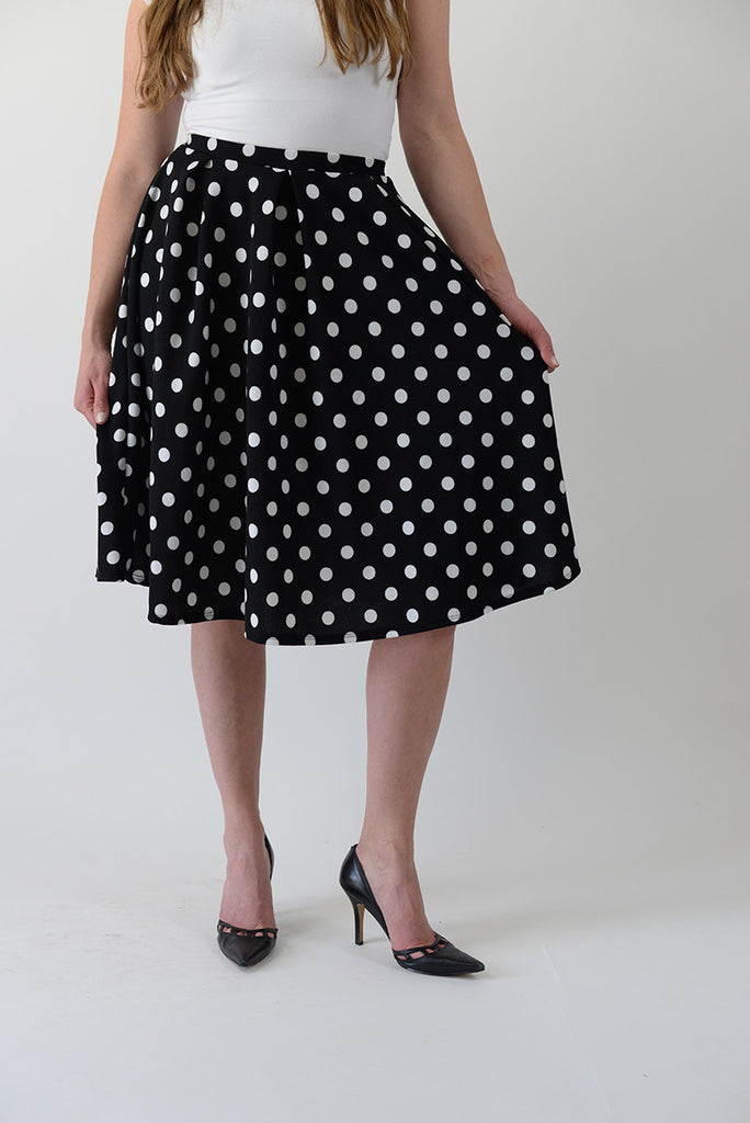 Black & White Polka Skirt