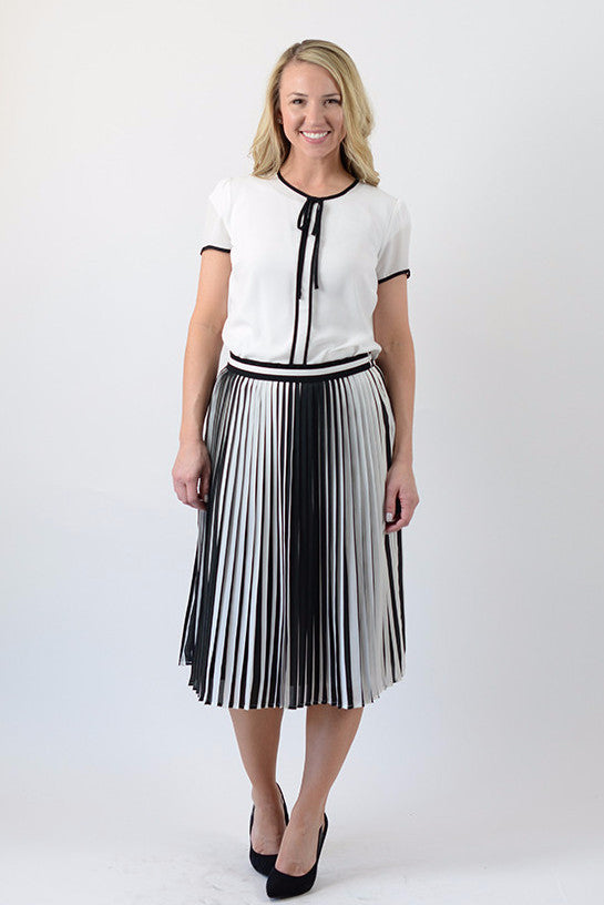 Accordian Midi Skirt