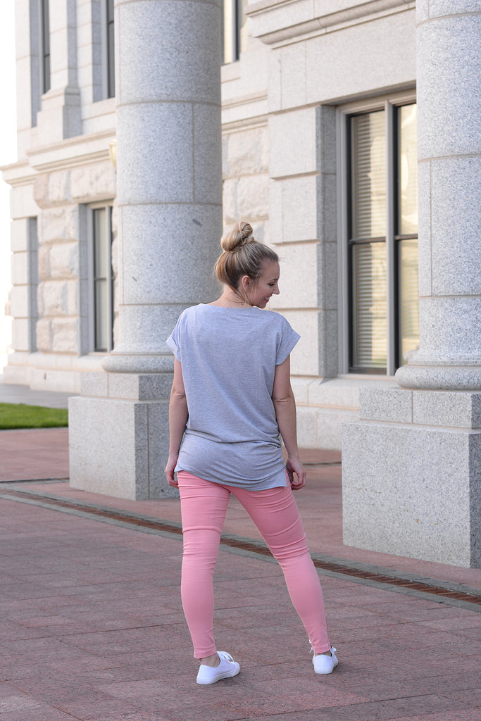 Moto Jeggings - Coral