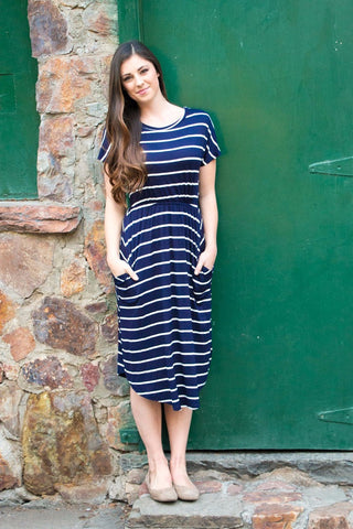 Bella Bell Sleeve - Navy