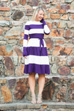 Colorblock Midi - Plum