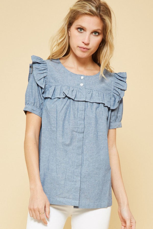 Chambray Skies Button-up