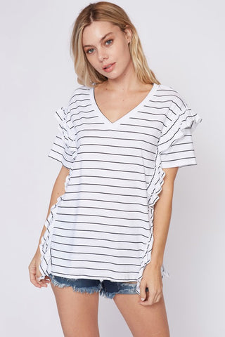 B+W Stiped V-Neck