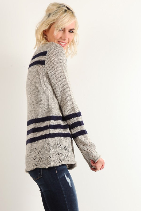 Nautical Eyelet Sweater
