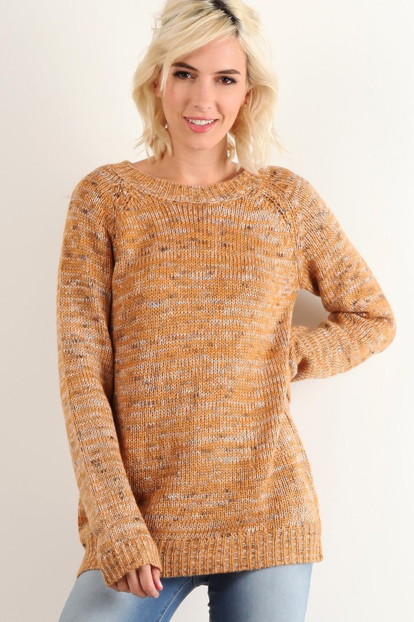 Peppered Rust Sweater