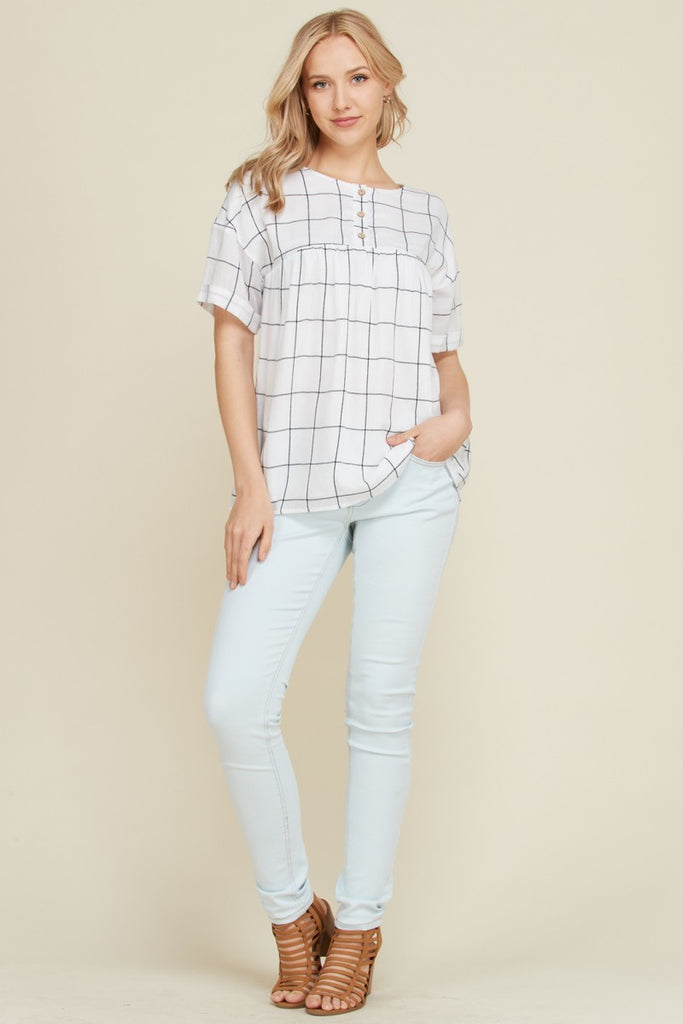 The Stephanie Blouse - White