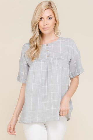 Azalea Blouse - Light Blue