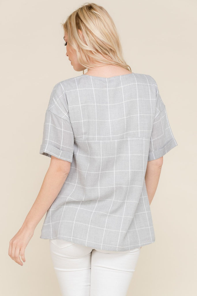 The Stephanie Blouse - Grey
