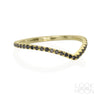 Chevron Ring: Black Diamonds, Yellow Gold