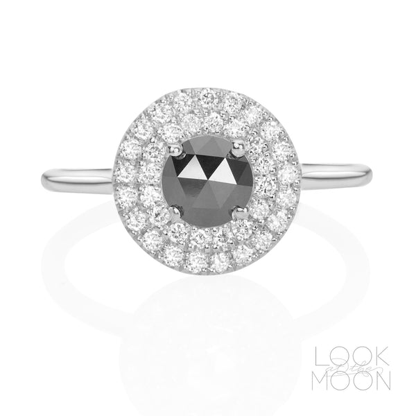 Portia: Black Diamond & White Gold