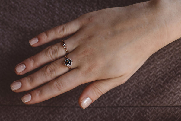 Bianca: Rose Cut Diamond, White Gold