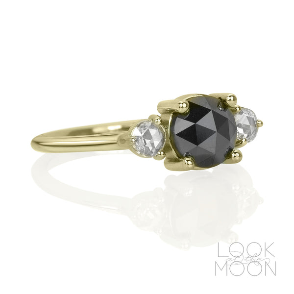 Cressida: Black & White Diamonds, Yellow Gold
