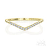 Chevron Ring: Demi-Pavé Diamonds, Yellow Gold