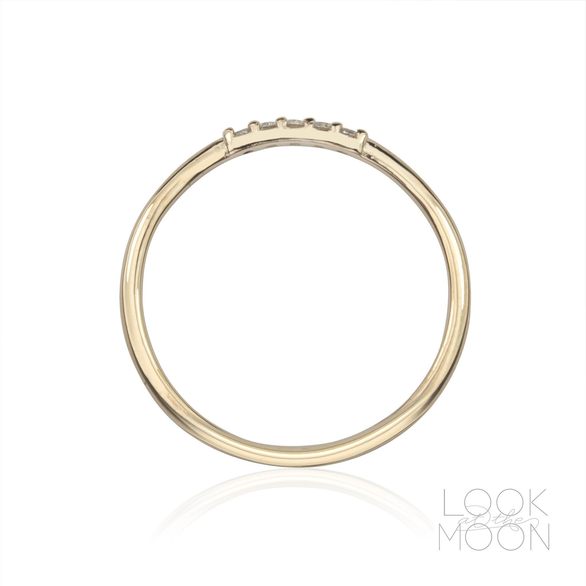 Five Star Ring Black Diamonds & White Gold – Look at the Moon