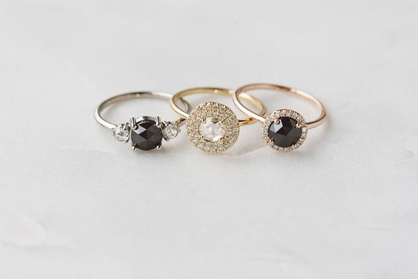 Bianca: Peach Gemstone, White Gold
