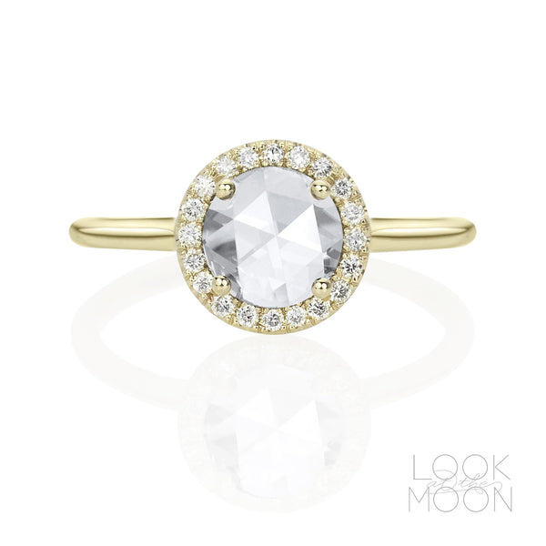 Bianca: Rose Cut Diamond, Yellow Gold
