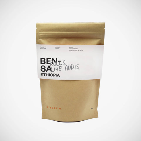 Bensa Ethiopia Single Origin Coffee bag