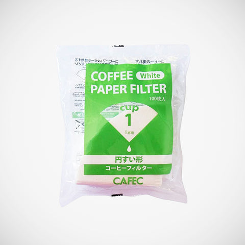 Cafec White paper filters for 1 cup v60 brewing
