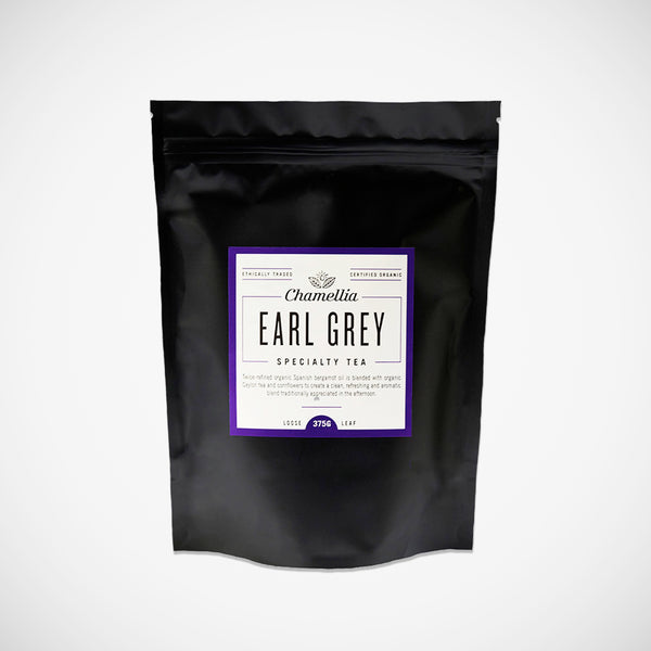 Chamellia Earl Grey specialty tea organically produced.