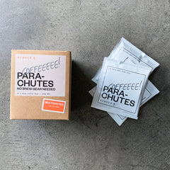 Coffee drip bags 10 pack filter parachutes with Gesha and Colombian Single Origin beans