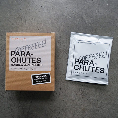 Single Origin drip coffee bag parachutes