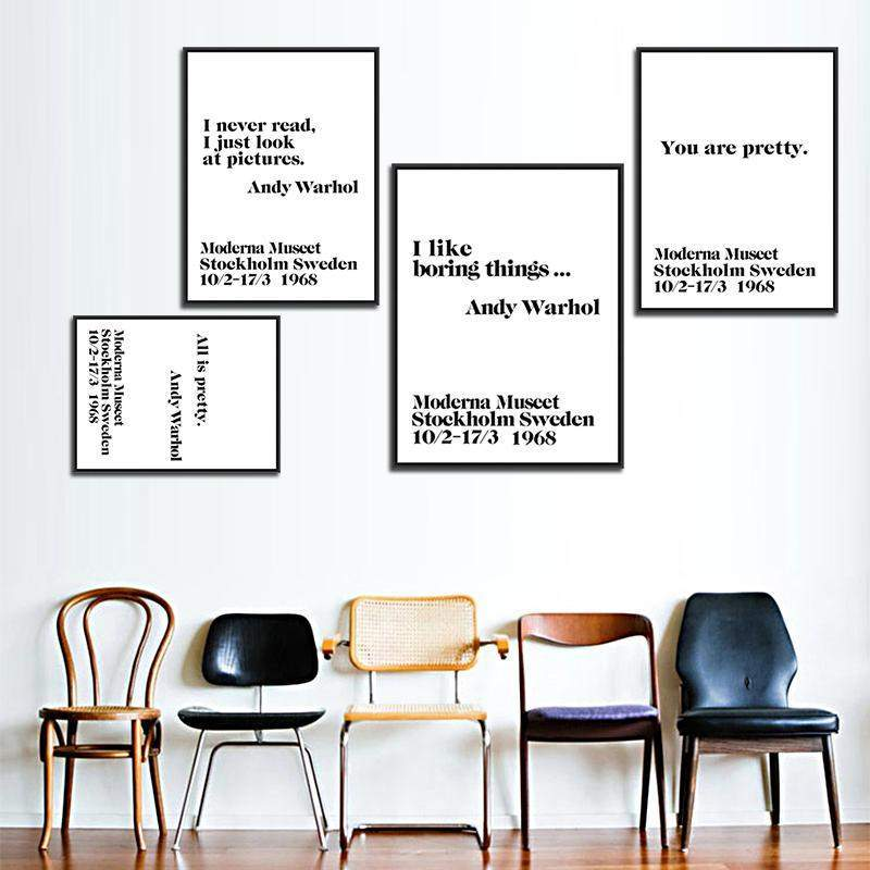 Andy Warhol Life Quote Wall Art-Home-[color]-[size]  sc 1 st  The Bohemian Expression & Andy Warhol Life Quote Wall Art u2013 The Bohemian Expression
