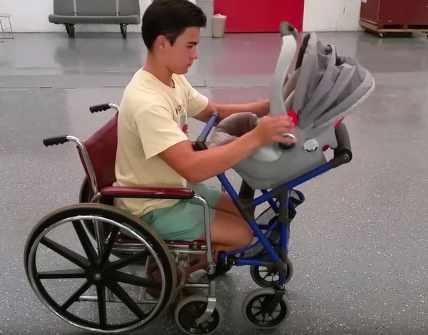 Wheelchair Stroller For Paraplegic New Mums Felt Ball