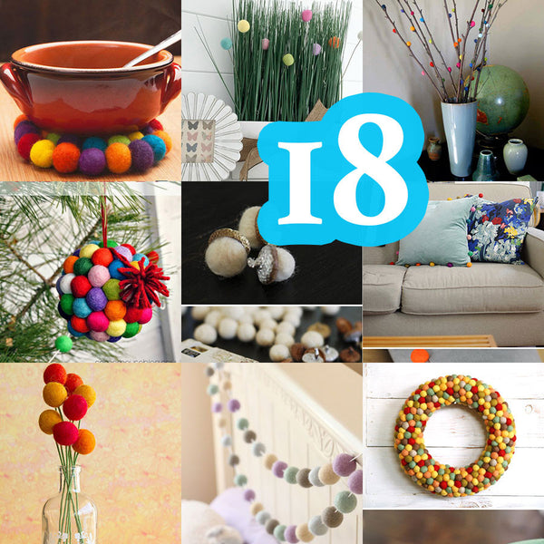 18 Ideas That Will Transform: 18 Felt Ball DIY Projects That Will Transform Your Home