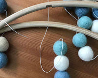 felt ball mobile diy
