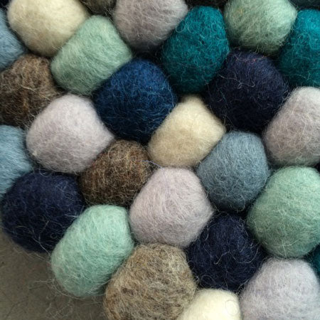 custom made felt ball rug